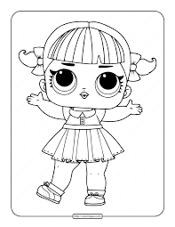 Coloring this character is very simple : Printable Lol Surprise Cheer Captain Coloring Pages