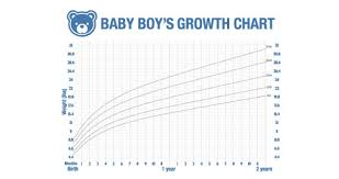 Baby Boy Growth Chart Pounds Dry Erase Boy Growth Chart Decal