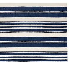 oxford stripe recycled yarn indoor outdoor rug swatch