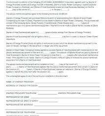 Solar Power Purchase Agreement Sample Contract Template ...