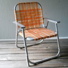 furniture home vintage folding lawn chair childs aluminum orange