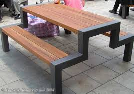 outdoor cafe chairs. Steel Frame Picnic Tables For Cafe Areas Outdoor Chairs
