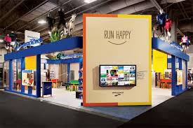 Trade Show Booth Design Ideas color branding creative design brooks sports