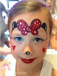 face painting minnie mouse kids party birthday hearts disney facepainting