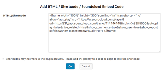 soundcloud image size how to add soundcloud to a wordpress gallery wordpress plugin