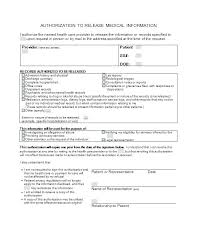 release of medical information template medical release template free medical release form medical consent