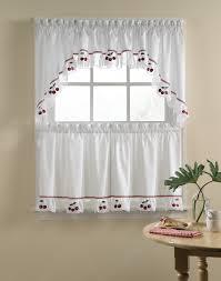 Red Swag Kitchen Curtains Kitchen Adirondack Cotton Kitchen Window Curtains With White Or
