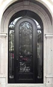 iron front doorsWrought Iron Entry Doors With Side Lights Scottsdale AZ