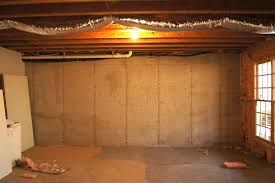 image of painting unfinished basement walls