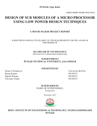 Project Report Title Page Format Magdalene Project Org