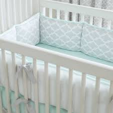 mint and grey nursery french gray and mint quatrefoil crib bedding carousel designs