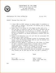 Memorandum Sample Army Memorandum Sample 1 Discover China Townsf