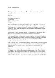 format basic resume format examples basic resume format examples image full size