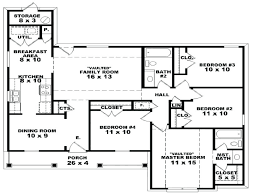 one story house plan remarkable plans with open floor design basics two porches four bedroom 3