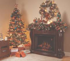 dark wood mantle home depot electric fireplaces with balsam hill trees and ikea nightstand on beige rugs plus corner electric fireplace also portable