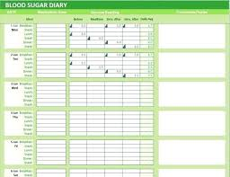 Excel Blood Sugar Log Image 0 Blood Sugar Journal Printable Diary Excel Template Glucose