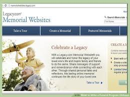 How To Make A Funeral Program How To Write A Funeral Program Obituary With Pictures