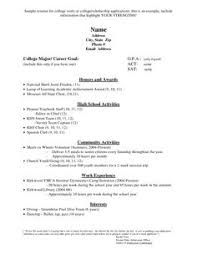 College Application Resume Examples Enchanting Download Sample College Admissions Resume DiplomaticRegatta