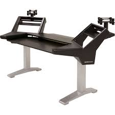 argosy halo k l b s halo k plus studio desk with 2 rack shelves speaker