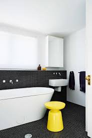 Black And White Tile Bathroom Paint Color Tags black and white