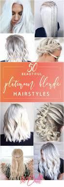 50 Prachtige Stijlen Om Je Platina Blonde Haar Te Verheffen