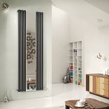 Ximax Fortuna Mirror Vertical Radiator Anthracite (H)1800 mm (W)590 mm |  Departments | DIY at B&Q