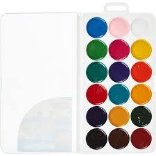 <b>Краски</b> акварельные <b>№1 School</b> Шустрики 18 цв б/кисти пластик