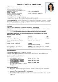 Job Application Resume Best Of Resume Sample For Job Application In Philippines Valid Perfect Job