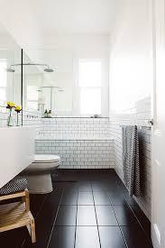 black and white bathroom floor tile. 15 bathroom tile design ideas. black tileswhite subway tilesblack floor and white