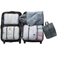 <b>Packing</b> Cubes for Travel, Teoyall <b>7pcs</b> Luggage Organizer Suitcase ...