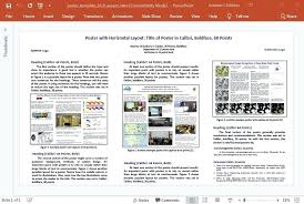 poster format powerpoint research poster presentation template