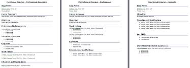 The Strengths and Weaknesses of a Chronological Resume