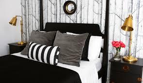 Black and Gray Bedroom - Eclectic - bedroom - Bryn Alexandra Interiors