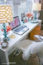cute office. cute desk for a small bedroom love the long narrow look can put storage office