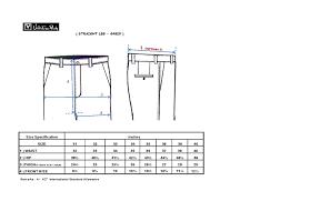 Straight Leg Size Chart Valentino Rudy Italy Malaysia