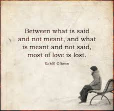 Between What Is Said And Not Meant And What Is Meant And Not Said
