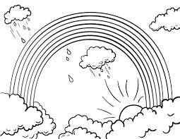 Small Picture Free Rainbow Coloring Page