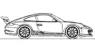 Race Car Sport Porsche Coloring Page Porsche Car Coloring Pages