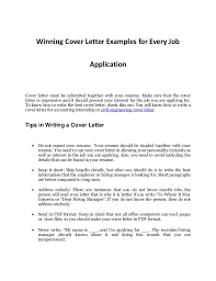job applications examples every job applications sample cover letter that works
