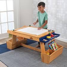 kidkraft easel desk uk by kidkraft art table with drying rack u0026 storage