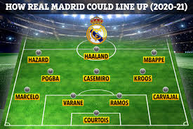 Real madrid is also people's favorite team and it is basically originated in spain and operating since 1902. How Real Madrid Will Line Up With Mbappe Haaland And Hazard As Attacking Trio And Pogba In Midfield