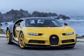 bugatti car 2018. wonderful bugatti yellow and black 2018 bugatti chiron by the ocean to bugatti car