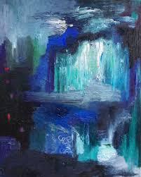 saatchi art abstract art oil painting original abstract oil painting by romany steele 20 x 16 ice cave infinity painting by romany steele