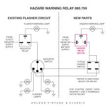 wiring diagrams for classic car parts from holden vintage classic 12 volt hazard flasher relay
