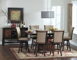 westwood counter height dining table set with swivel chairs