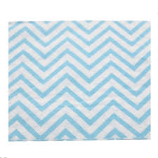 Light Blue Chevron Paper Napkins Amazon Com Youmewell Disposable Party Napkins Blue Chevron