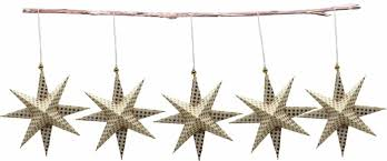 Casalanas Christbaumschmuck Gold Gepunkteter Stern 95x95 Cm Gold Weiß Art Nr 3320