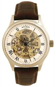 rotary mens mechanical skeleton watch gs02519 09 rotary gs02519 09