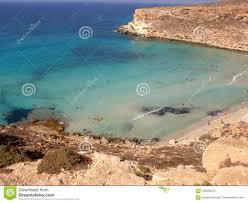 Isola Dei Conigli Beach In Lampedusa Stock Image Image Of Sicily