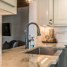 quartz kitchen countertop with sink installed in east coast granite of charlotte